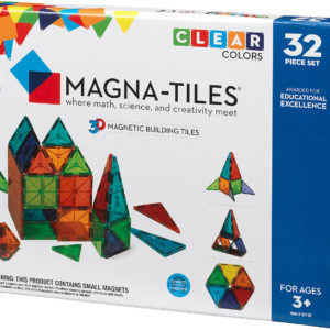 Magna-Tiles Clear Colors 32 Piece Set