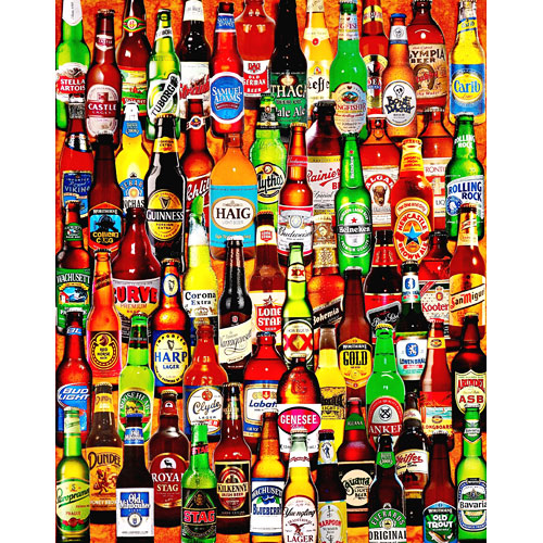 99 Bottles of Beer on the Wall-1000 Piece Puzzle-White Mountain Puzzles