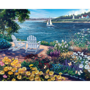 Garden by the Bay-1000 Piece Puzzle-White Mountain Puzzles