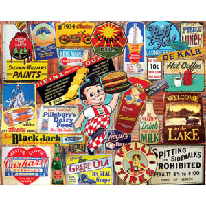 Vintage Signs-1000 Piece Puzzle -White Mountain Puzzles