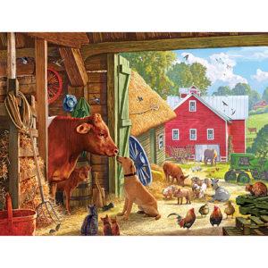 Barnyard Buddies-550 Piece Puzzle-White Mountain Puzzles