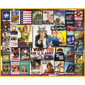 World War II Poster Collage Jigsaw Puzzle-White Mountain Puzzles
