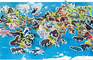 Educational Puzzle- Endangered Animals - 200 Pcs