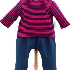 "12"" Striped T-Shirt & Pants"