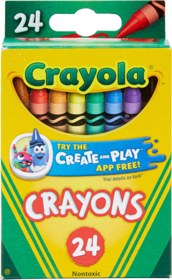 24 Ct. Crayons - Peggable