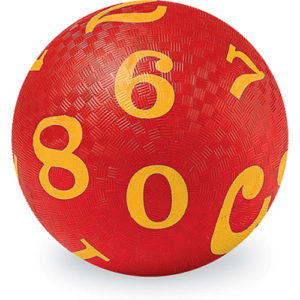 """5"""" Playball/ Numbers Red"""