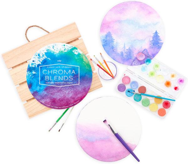 Chroma Blends Circular Watercolor Paper