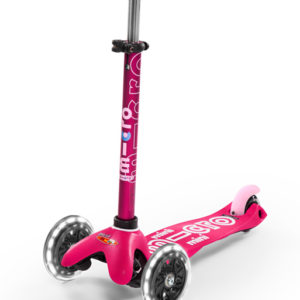 Micro Kickboard Mini Deluxe LED - Pink