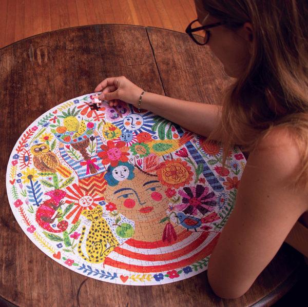 Positivity 500 Piece Round Puzzle
