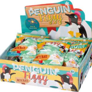 """Penguin Fizzy 1.5"""" figure inside. 2.5"""" egg"""