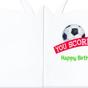 Soccer Ball Die-Cut Card (Woh)