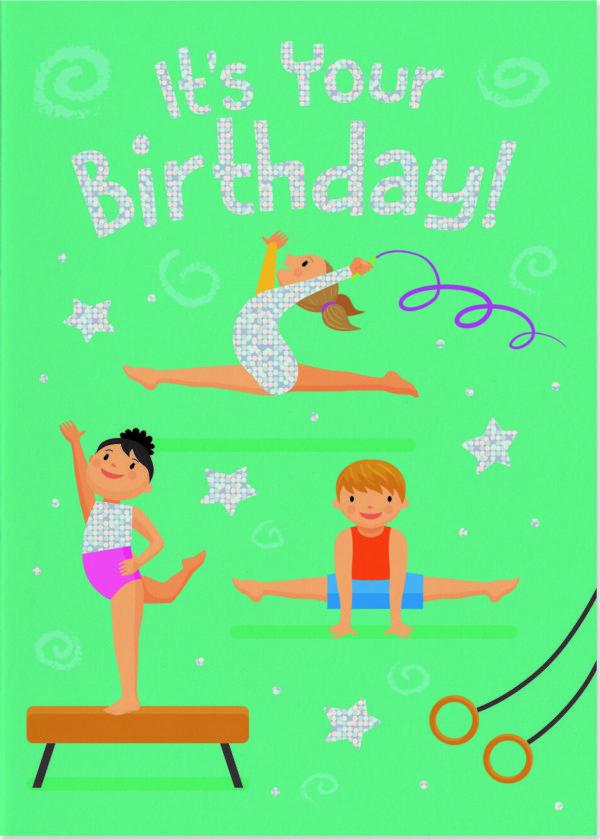 Gymnastics Foil Card