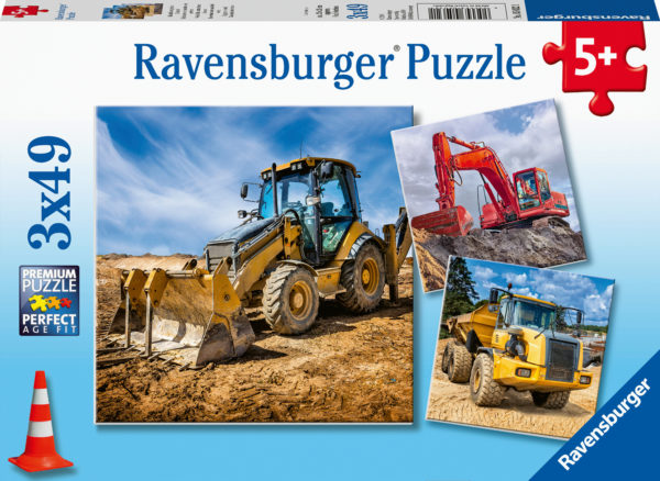 Digger At Work 3X49Pc Puzzl