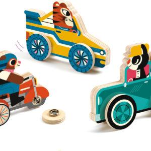 Djeco Clipacar Snapping Wheels Skill Boards