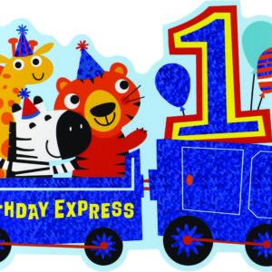 Age 1 Zoo Train Card