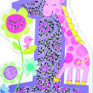 Age 1 Giraffe Card
