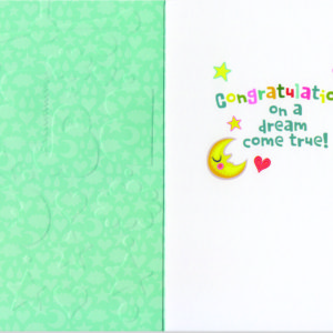 Baby Mobile Embossed And Foil Card