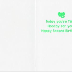 Age 2 Confetti Card