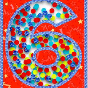 Age 6 Confetti Card