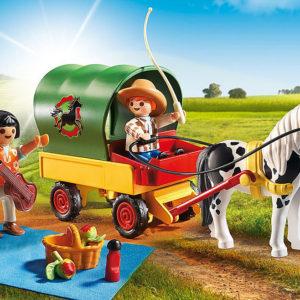 Picnic with Pony Wagon