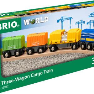 Three Wagon Cargo Train