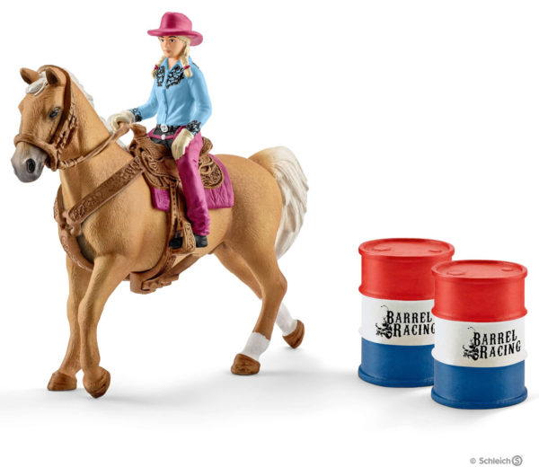 Barrel Racing With Cowgirl