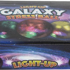 "2.5"" Light-Up Galaxy Squeeze Ball"