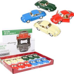 """5"""" Diecast Pull Back Porsche Carrera (12Pcs/Display)"""