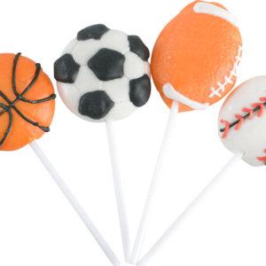 "2"" Sportsball Lollipop With 4""Stick"