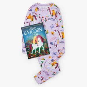 Books to Bed Uni Unicorn PJ & Book