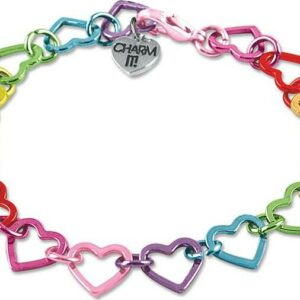 Rainbow Heart Link Bracelet