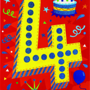 Age 4 Lettering Foil Card
