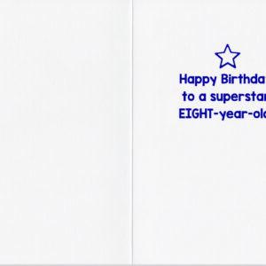 Age 8 Confetti Card