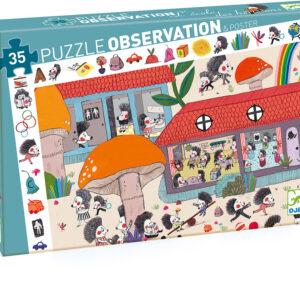 Hedgehog School Observation Puzzle - 35 pcs