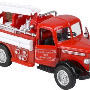 "5"" Diecast Pull Back Classic Fire Truck"
