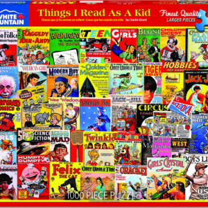 Things I Read as a Kid - 1000 Piece - White Mountain Puzzles