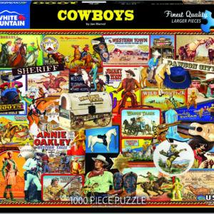 Cowboys - 1000 Piece - White Mountain Puzzles