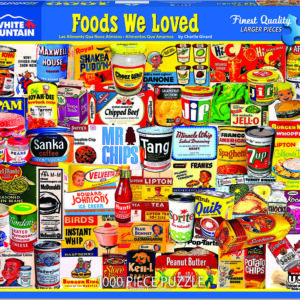Foods We Loved - 1000 Piece - White Mountain Puzzles